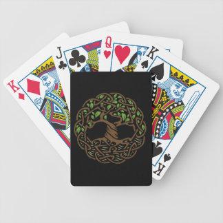Keltischer Baum des Lebens Bicycle Spielkarten