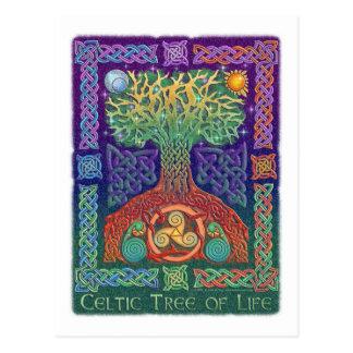 Keltischer Baum des Lebens Postkarten