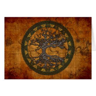 Keltischer Baum des Lebens [Yggdrasil] Karte