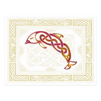 Keltischer Delphin Postkarte