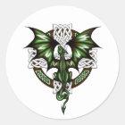 keltischer Drache Runder Aufkleber