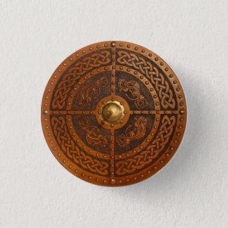 Keltischer Drache Targe Runder Button 3,2 Cm