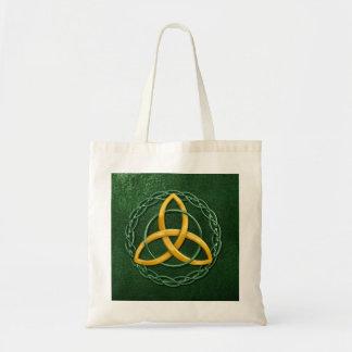 Keltischer Dreiheits-Knoten Budget Stoffbeutel