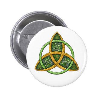 Keltischer Dreiheits-Knoten Anstecknadelbutton