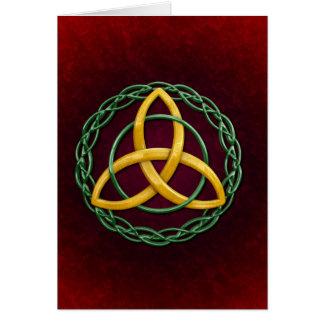 Keltischer Dreiheits-Knoten Karte