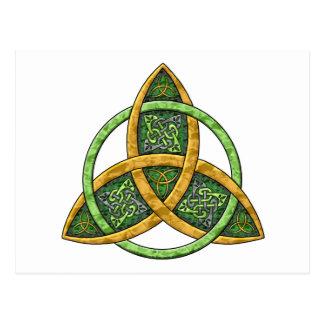 Keltischer Dreiheits-Knoten Postkarte