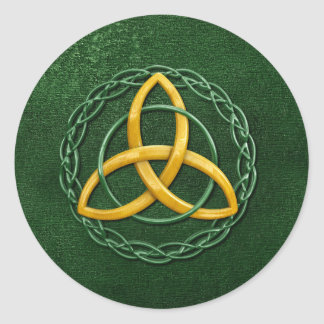 Keltischer Dreiheits-Knoten Runder Aufkleber