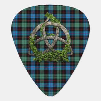 Keltischer Dreiheits-Knoten und Clan Guthrie Plektrum