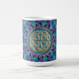 Keltischer FraktalMandala Kaffeetasse