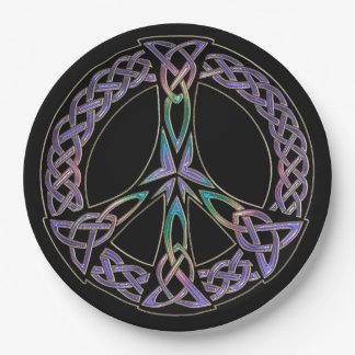 Keltischer Frieden unterzeichnen herein Lavendel Pappteller