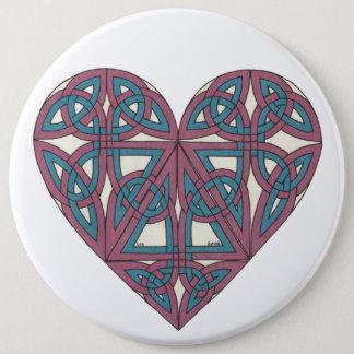 Keltischer Herzknopf Runder Button 15,3 Cm