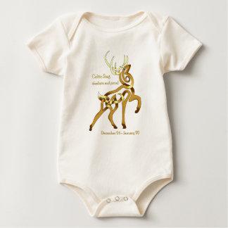 Keltischer Hirsch Baby Strampler