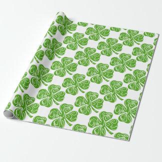 Keltischer Klee Geschenkpapier