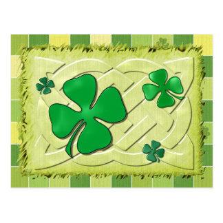 Keltischer Klee irisches 3D Postkarte