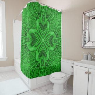 Keltischer Klee-Kaleidoskop-Duschvorhang Duschvorhang