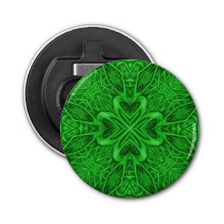 Keltischer Klee-Kaleidoskop-magnetische Runder Flaschenöffner
