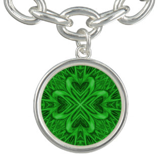 Keltischer Klee-Vintages Muster-Charme-Armband Charm Armband