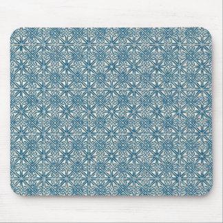 Keltischer Knoten-aquamarines blaues Muster Mousepads