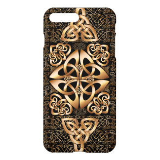 Keltischer Knoten auf Schwarzem iPhone 8 Plus/7 Plus Hülle