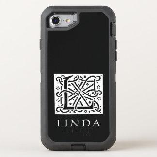 Keltischer Knoten-Buchstabe L Monogramm mit Ihrem OtterBox Defender iPhone 8/7 Hülle