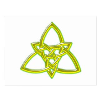 keltischer Knoten celtic knot Postkarte