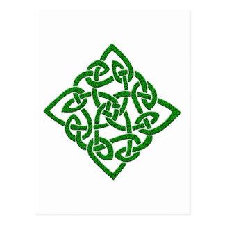 Keltischer Knoten - Diamant-Postkarten Postkarte