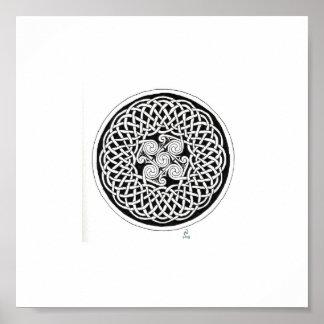 Keltischer Knoten-Kranz Posterdruck