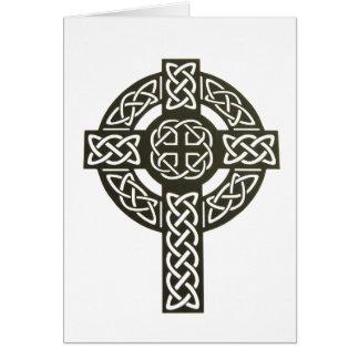 Keltischer Knoten-Kreuz-Entwurf Karte