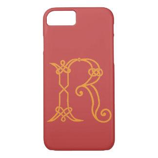 Keltischer Knoten-personalisierte Initiale R iPhone 8/7 Hülle