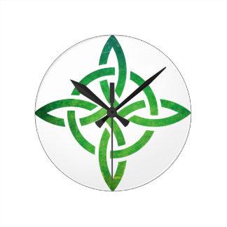 Keltischer Knoten Runde Wanduhr