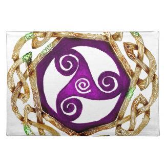 Keltischer Knoten Triskelle irischer Heiliges Tischset