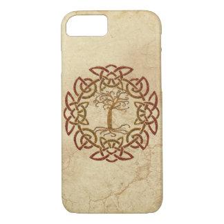 Keltischer Kreis-Viking-Baum des iPhone 8/7 Hülle