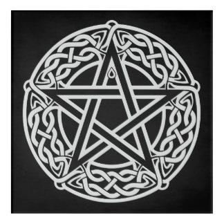Keltischer Pentagram Acryl Wandkunst