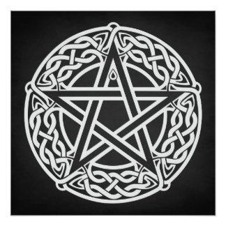 Keltischer Pentagram Fotodruck