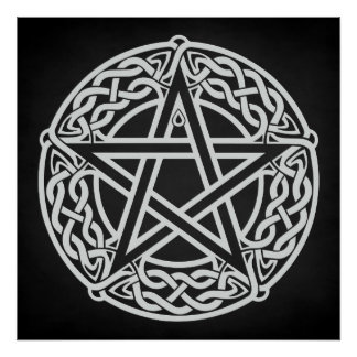 Keltischer Pentagram Poster