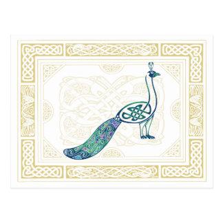 Keltischer Pfau Postkarte