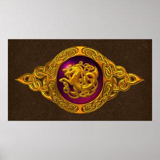 Keltischer Pferdeentwurf Poster