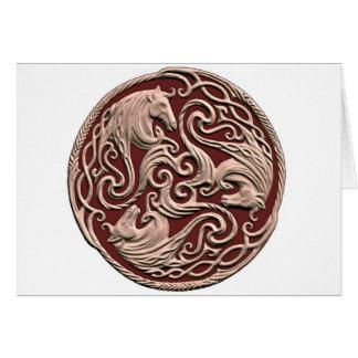 Keltischer Pferdeknoten Karte