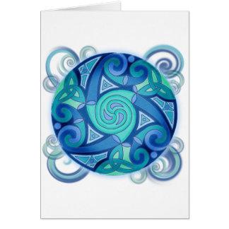 Keltischer Planet Grußkarte
