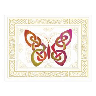 Keltischer Schmetterling Postkarte