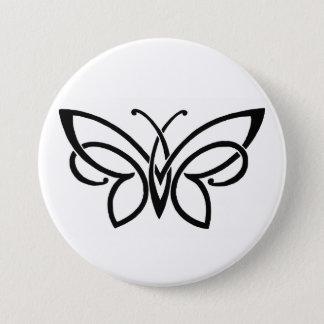 keltischer Schmetterlingsknopf Runder Button 7,6 Cm