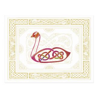 Keltischer Schwan Postkarte