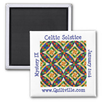 Keltischer Sonnenwende-Magnet Quadratischer Magnet