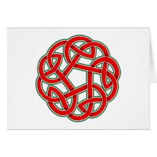 Keltischer Weihnachtsknoten Grußkarte