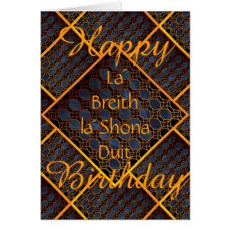 Keltisches alles Gute zum Geburtstag Karte