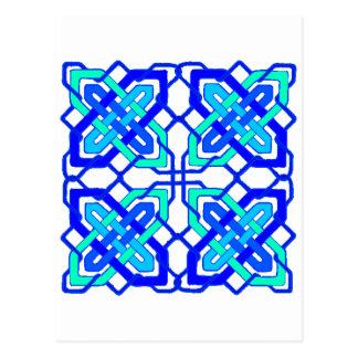 Keltisches Blau des Knoten-3 Postkarte