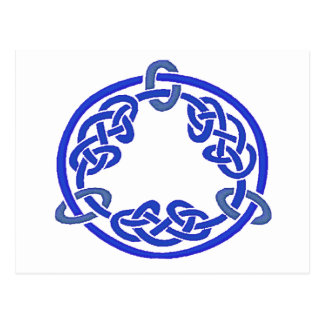 Keltisches Blau des Knoten-7 Postkarte