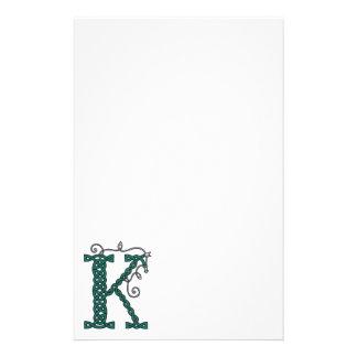Keltisches Briefpapier des Buchstaben K
