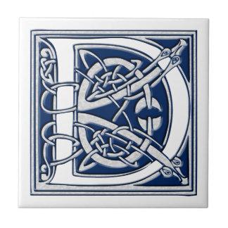 Keltisches d-Monogramm Fliese
