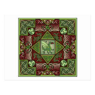 Keltisches Drache-Labyrinth Postkarte